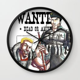 Spartan and Phoenix - Demolition Man Wall Clock