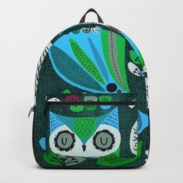 Night Owls Retro Pattern Backpack