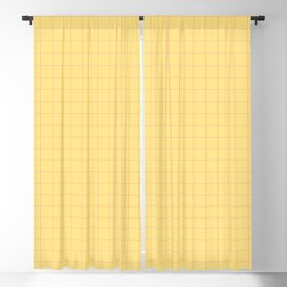 Yellow with Pink Lines Blackout Curtain