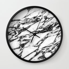 Modern Black and White Marble Stone Wall Clock