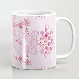 Blush Pink watercolor floral love drops Coffee Mug