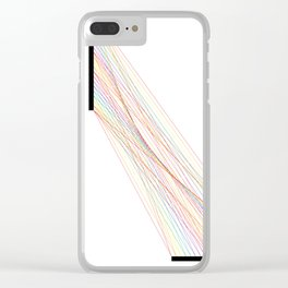 Rainbow Lines (White) Clear iPhone Case