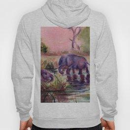 Elephant Landscape at Sunset Hoody