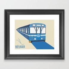 Blå linjen Framed Art Print