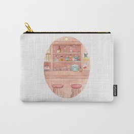 Haruki Murakami's Hear the Wind Sing // Illustration of a Japanese Bar in Watercolour and Pencil Carry-All Pouch