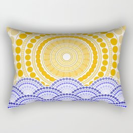 LIGHT OF DAWN (abstract tropical) Rectangular Pillow