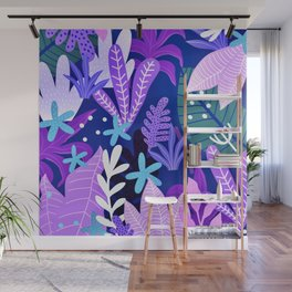 Into the jungle - violet night Wall Mural