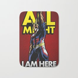 All Might Here Red Bath Mat