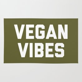 Vegan Vibes Funny Quote Rug