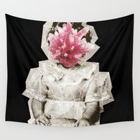 geode Wall Tapestries featuring Geode Face 3 by hunnydoll
