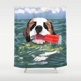Sulley swims Georgian Bay Shower Curtain