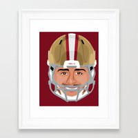 49ers Framed Art Prints featuring Faces-San Francisco by IllSports