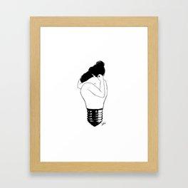 Lights up. Framed Art Print
