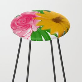 Floral Bouquet Counter Stool