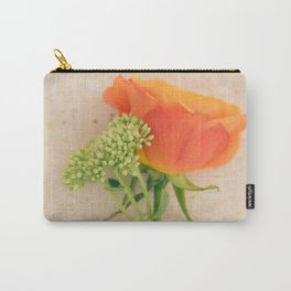 Mini Bouquet with an oramge rose Carry-All Pouch
