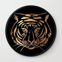 Gold and Black Tiger Wall Clock