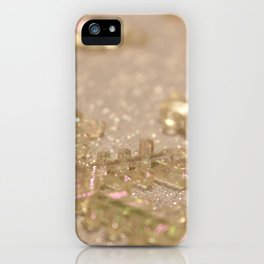 Snowflake Holiday Photography iPhone Case