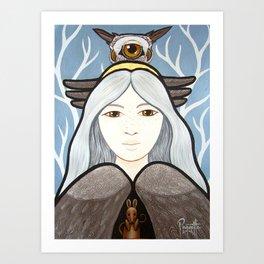Ohow - Owl Art Print