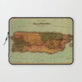 Map Of Puerto Rico 1886 Laptop Sleeve