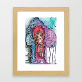 The Hermit - Tarot Inspired Watercolor Framed Art Print