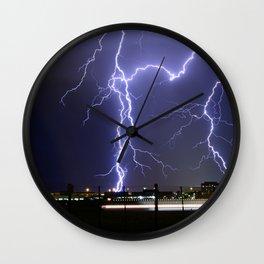Lightening Strikes Wall Clock
