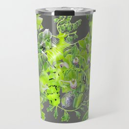 Chartreuse pattern Travel Mug
