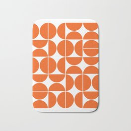 Mid Century Modern Geometric 04 Orange Bath Mat