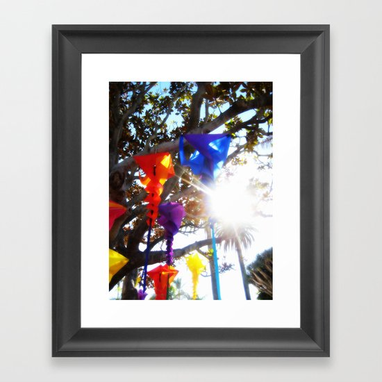 Wind Socks Framed Art Print