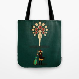 Red vs Young Lady Tote Bag