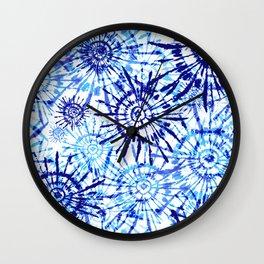 Circles Tie Dye Wall Clock