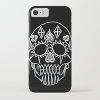 led zeppelin iPhone & iPod Cases featuring LED Skull by Max Wellsman