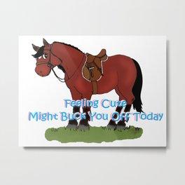 Bits Spurs Helmets Top Hats Mints Polo Mints Equestrian Print Metal Print