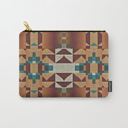 Native American Indian Tribal Mosaic Rustic Cabin Pattern Carry-All Pouch