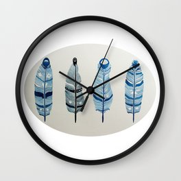 The four siblings of mother bird Wall Clock