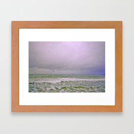 Dreary Day At Sea Framed Art Print