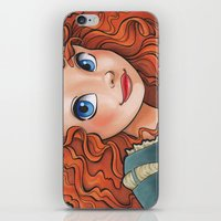 merida iPhone & iPod Skins featuring Merida by Genevieve Kay