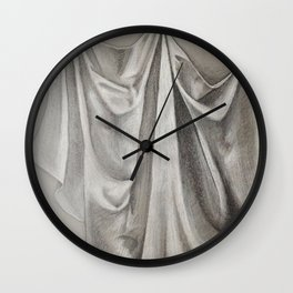 Textile Light Study  Wall Clock
