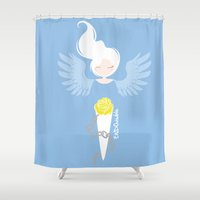 depression Shower Curtains featuring Endometriosis & Depression by OhhhKayeEndo