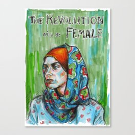 The Revolution Will be Female - 2 Canvas Print