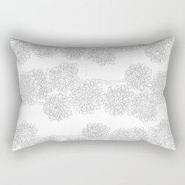 Butterfly Blue Flower Pattern Rectangular Pillow