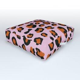 Jungle - Leopard Pattern Light Pink Outdoor Floor Cushion