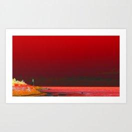 Apocalypse Beach Art Print