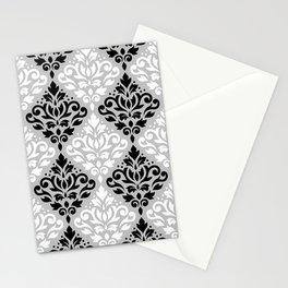 Scroll Damask Pattern BWG Stationery Cards