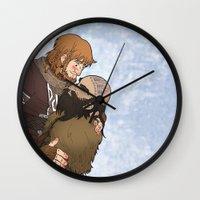 hero Wall Clocks featuring Hero by adorible