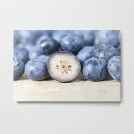 ripe blueberry berries Metal Print
