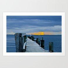 Scandic sunset Art Print