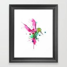 Hummingbird Skeleton Watercolor/Pen&Ink Framed Art Print