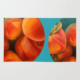 Round Peach Rug