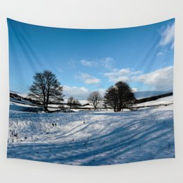 Sparrow pit the peaks. Wall Tapestry