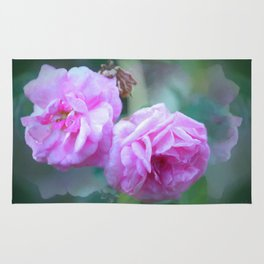 Pink Roses On Reflection Rug